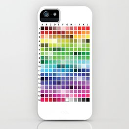 Color Chart iPhone Case