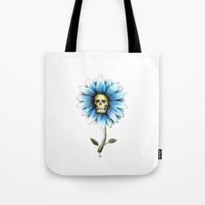 skull daisy Tote Bag