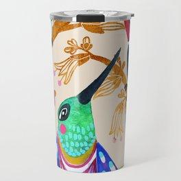 Hummingbird Floral Song Travel Mug
