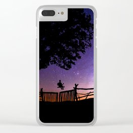 HIGH WILD AND FREE Clear iPhone Case