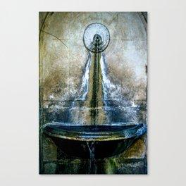 Fountain Bleu Canvas Print