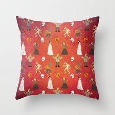 Unicorn Halloween Pattern Throw Pillow