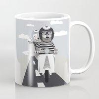 vespa Mugs featuring VESPA by tonadisseny
