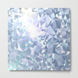 Abstract Steel Grey Diamond Pattern Metal Print