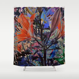 FLOWERS 9172 Shower Curtain