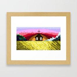 The Church Near Búðir Framed Art Print