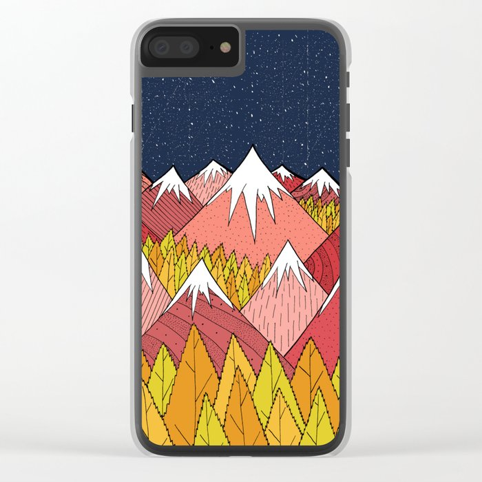 The mountains in the forest Clear iPhone Case