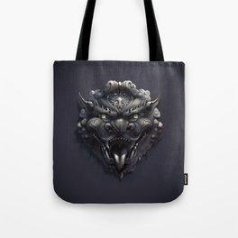 Foo Lion Dog Mask Tote Bag