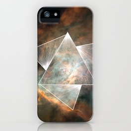 Cosmic Triangles iPhone Case