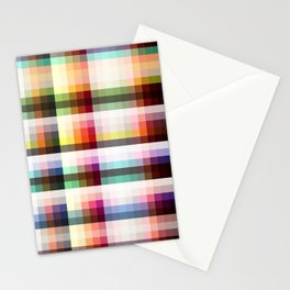 Mora - Colorful Decorative Abstract Striped Art Pattern Stationery Cards
