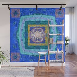 Boho Lace Vintage Quilt Sacred Geometry Print Wall Mural