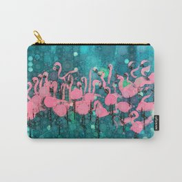 :: Flamingos Among Us :: Carry-All Pouch