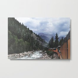Train ride through the Colorado mountains Metal Print