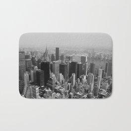 New York City Black and White Bath Mat