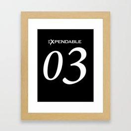 Expendable Framed Art Print