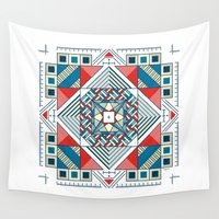 square Wall Tapestries featuring Square by halley_anne
