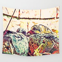 Baby Birds Wall Tapestry