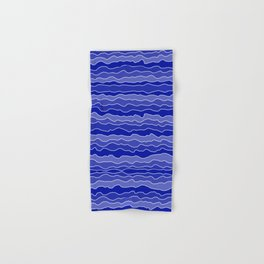 Four Shades of Blue with White Squiggly Lines Hand & Bath Towel