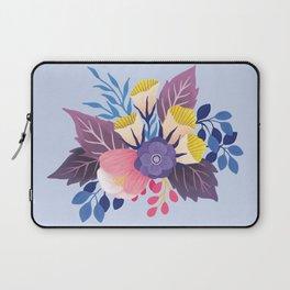 April Florals on Blue Laptop Sleeve