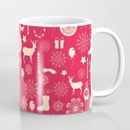 White Objects Christmas Pattern Coffee Mug