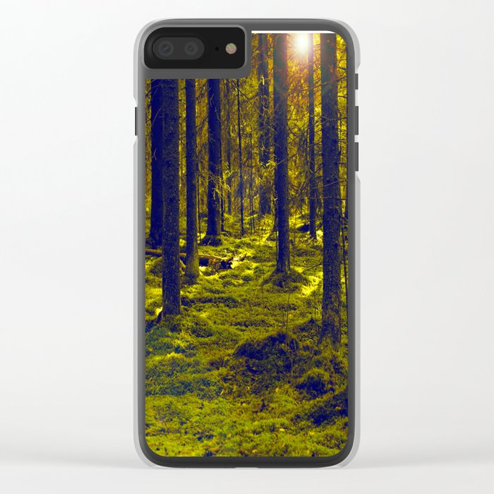 Green Forest #decor #society6 Clear iPhone Case
