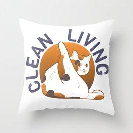Clean living Throw Pillow
