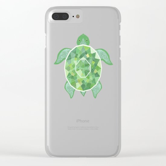 Turtle - Emerald Clear iPhone Case