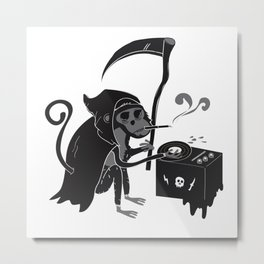 The beats are good in Monkey Hell Metal Print
