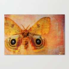 Winged Yellow Canvas Print
