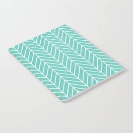 Turquoise Herringbone Pattern Notebook