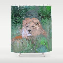 Crazy Paint - Lion Shower Curtain