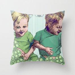Babies Blue Throw Pillow