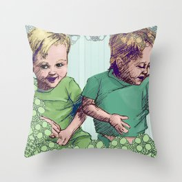 Babies Blue Throw Pillow