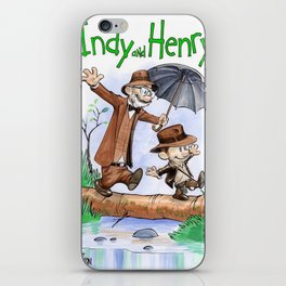 calvin hobbes indiana iPhone Skin