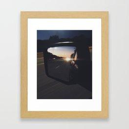 Sunset views Framed Art Print