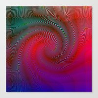 acid Canvas Prints featuring Acid by GypsYonic