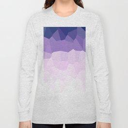 Purple Watercolor Crystals Long Sleeve T-shirt