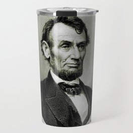 Engraving and anonymous portrait of Abraham Lincoln Travel Mug