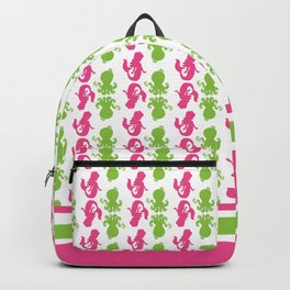 Hot Pink Mermaid and Green Octopus with Soap Backpack