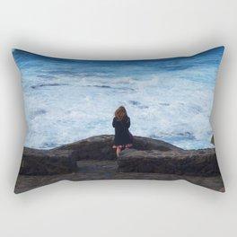 Ocean lover, meditation in front of the sea Rectangular Pillow