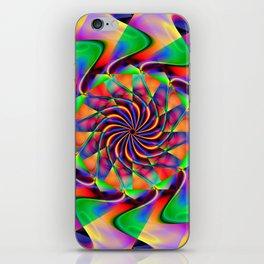 frequency mandala iPhone Skin