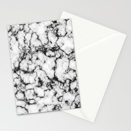 Black and White Stone Stationery Cards