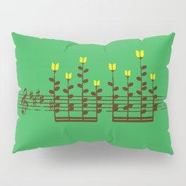 Music notes garden Pillow Sham