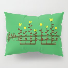 Music notes garden Pillow Sham