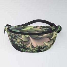 Kale Leaves Fractal Fanny Pack
