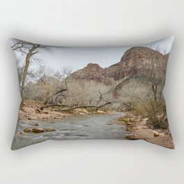 North Fork Virgin River, Zion National Park Rectangular Pillow