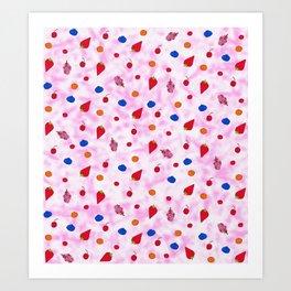 Strawberry shortbake baby Art Print
