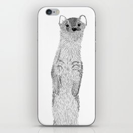 Weasel illustration iPhone Skin