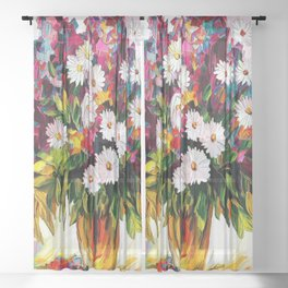 A floral bunch Sheer Curtain
