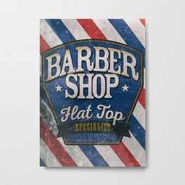 Vintage barber shop Metal Print